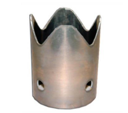 Picture of Aluminum Weld-on Serrated Crown