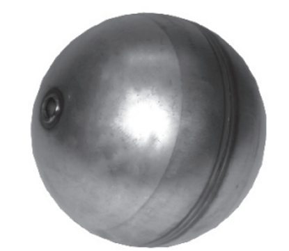 """Picture of 6"""" Stainless Steel Float Ball w/ ½"""" Bore"""