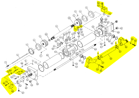 Picture of Water Piping/High Pressure Blocks/ Compensator Assembly