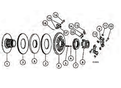 Picture of Dual Stage Transmission Clutch Rebuild Kit